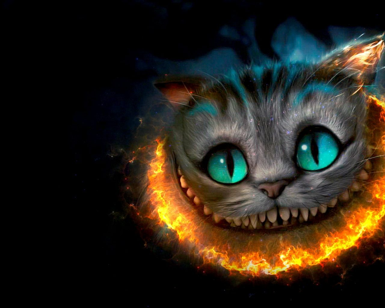 Gato cheshire 3d 1280x1024 fondos de pantalla y for Wallpapers 3d animados para pc