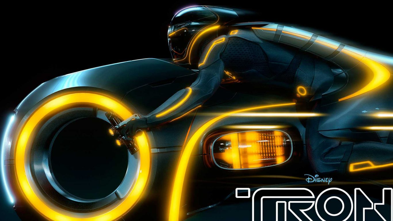 Wallpaper 3d Bike Tron Legacy Download: 1366x768 :: Fondos De Pantalla Y Wallpapers